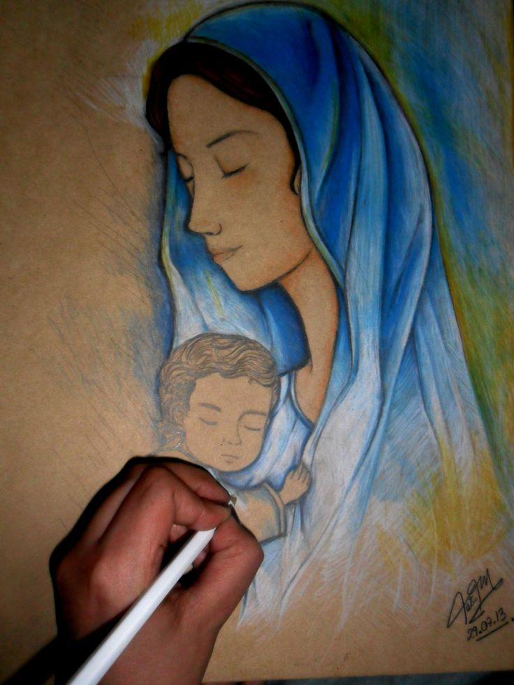 Dibujo a mano alzada sobre madre colores acuarelables y - Pintar sobre barniz ...
