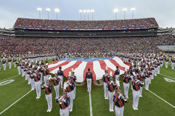 USA Flag Band Auburn football vs Georgia on Saturday, November 11, 2017 in Auburn, Ala. Photo by Wade Rackley/Auburn Athletics