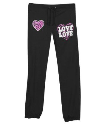 Plus Size Black Love and Hearts Pant -- Size:1x Color:Black NaNa. $27.00