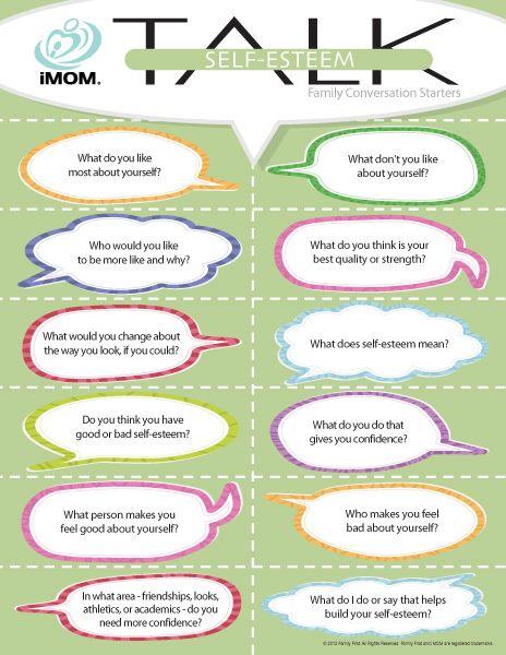 Self-Esteem Talk  http://imom.com/tools/conversation-starters/self-esteem-talk/