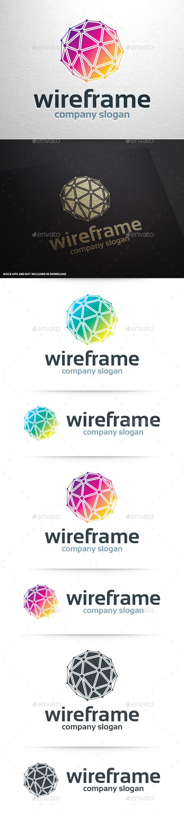 Wireframe Logo Tempalte #design #logotype Download: http://graphicriver.net/item/wireframe-logo-template/11097452?ref=ksioks