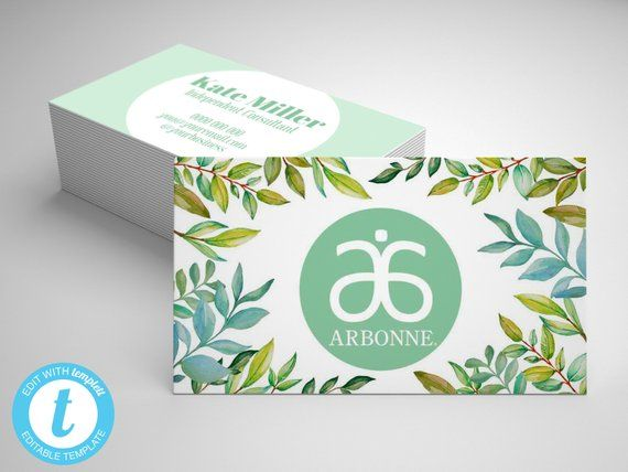 Arbonne Business Card Template Editable Arbonne Business Card Green Arbonne Card Arbonne Mark Arbonne Business Cards Business Card Template Arbonne Business