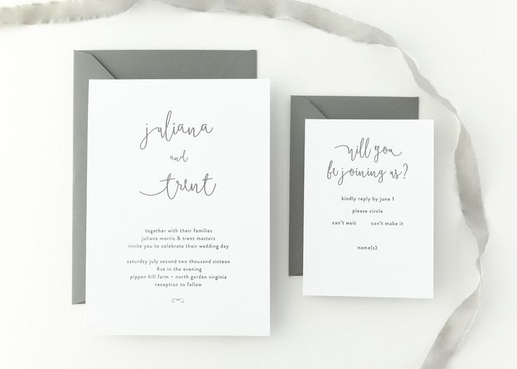 Juliana Wedding Invitation | Classic, timeless letterpress wedding invitations from August + White | Simple Wedding Invitation | Wedding Invites | Save the Dates | Wedding Stationery