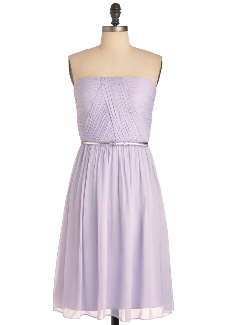 Time of My Life Dress in Lilac: Color, Modcloth, Lilac Dress, Belt, Lilac Bridesmaid Dresses, Lilacs