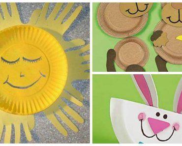 детские поделки из бумажных тарелок 10
