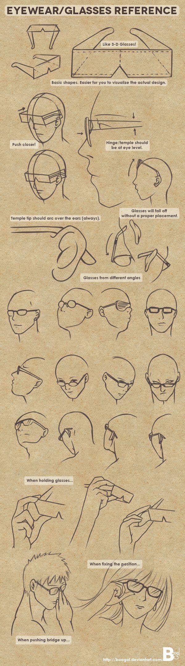 Eyewear/Glasses Reference by Boogol.deviantart... on @deviantART