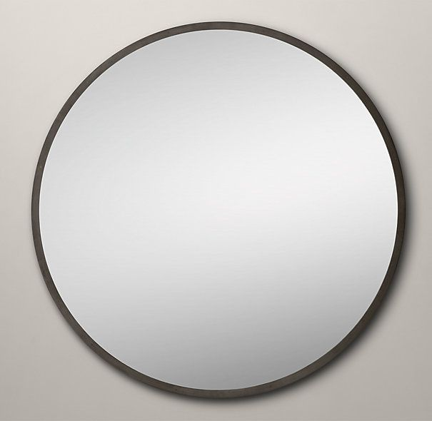 Restoration hardware custom metal mirror level 48 diam for Restoration hardware round mirror