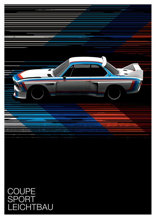 BMW 3.0 CSL (Motorsport Edition) print by Guy Allen