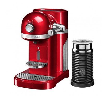 KitchenAid Nespresso coffee machine ARTISAN with Aeroccino 3 milk foamer, candy apple (5KES0504ECA/4)