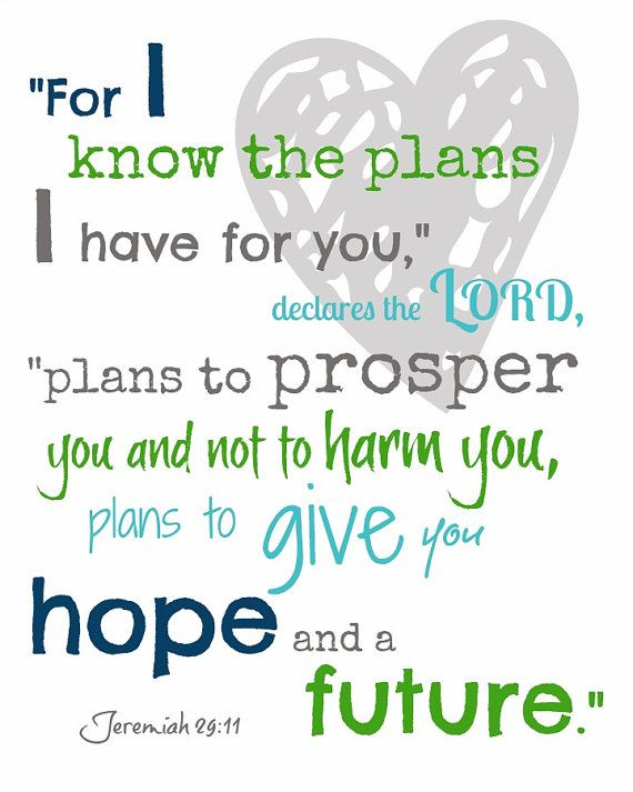 free printable jeremiah 29 11   Bible verse print Jeremiah 2911 ...