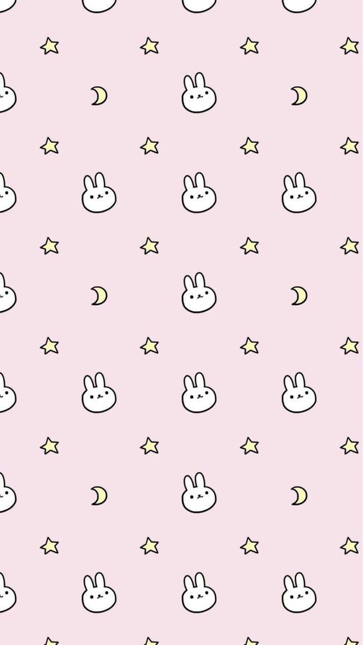 Bunnystars Wallpaper Iphone Cute Soft Wallpaper Rabbit