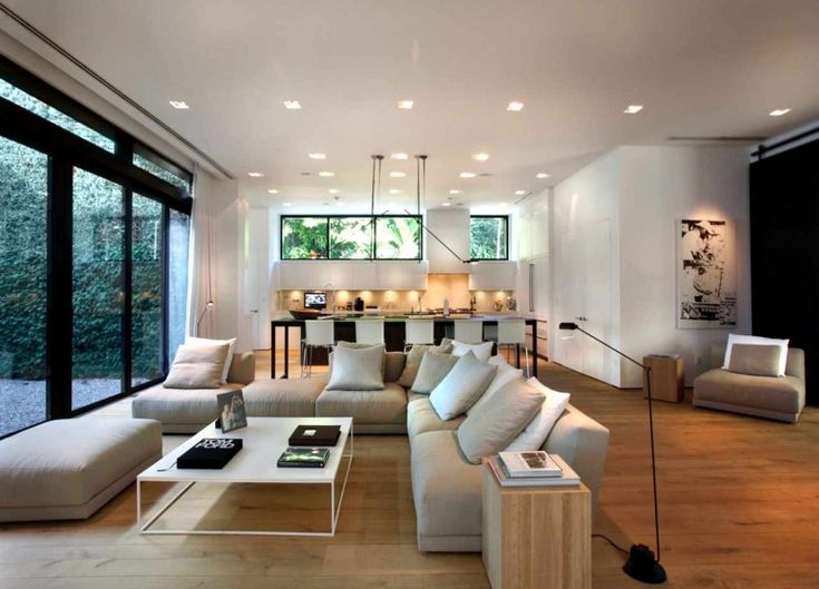 Perfect Incredible Waterfront House Design In Miami: Miami Beach Waterfront Soft  Grey Sofas Stunning Waterfront Modern Part 27