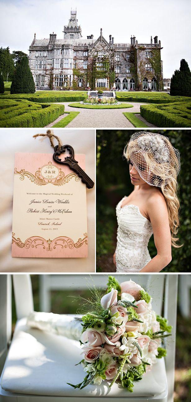 Fairytale Blush Castle Destination Wedding in Ireland - WeddingWire: The Blog