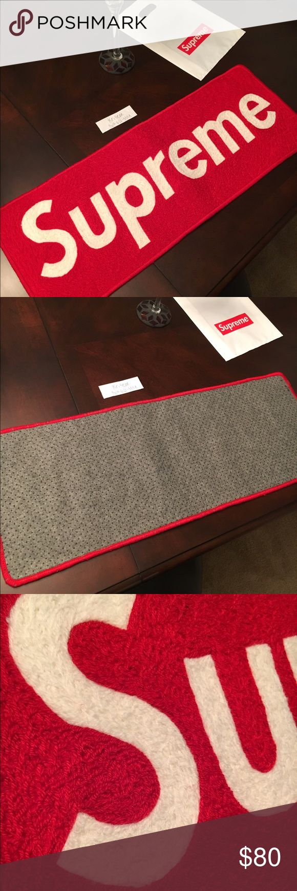 Supreme carpet Brand new supreme carpets for sale $80  Also listening to all offers, Let me know how much you have I'm willing to negotiate. Supreme Accessories
