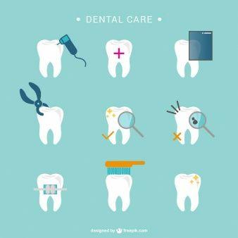 ícones dente atendimento odontológico