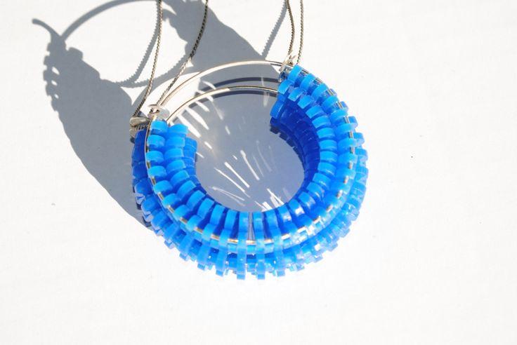 Blue shape neckpiece