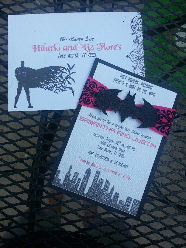 Batman invitations.