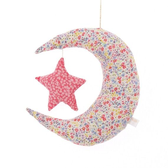 Mobile Lune Liberty Phoebe Corail
