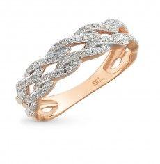 Кольцо с 88 бриллиантами, 0.22 карат; Розовое золото 585 пробы. 25761