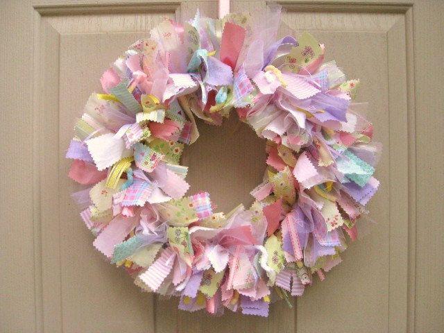 Newborn Baby Girl Wreath, Baby Door Wreath, Baby Shower Wreath, Nursery Decor, Baby Girls Room Decoration, Wreath for Hospital Door. $60.00, via Etsy.