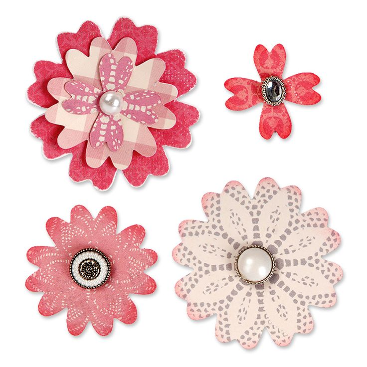 Sizzix.co.uk - Sizzix Bigz Die - Flower Layers w/Heart Petals