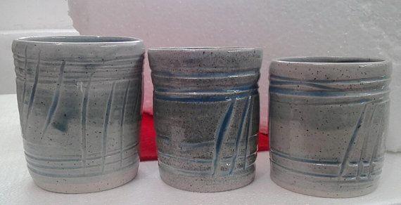 Coffee Cup Set,Ceramic Set of 3-Tea cups,Coffee Lovers Gift,Drinkware,Wheel Thrown Mugs,Handmade Ceramic mugs,Stoneware,mugs handmade,mugs
