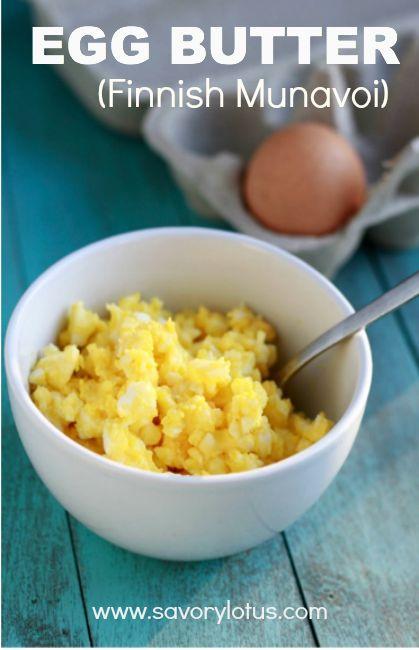 Egg Butter (Finnish Munavoi) |  savorylotus.com