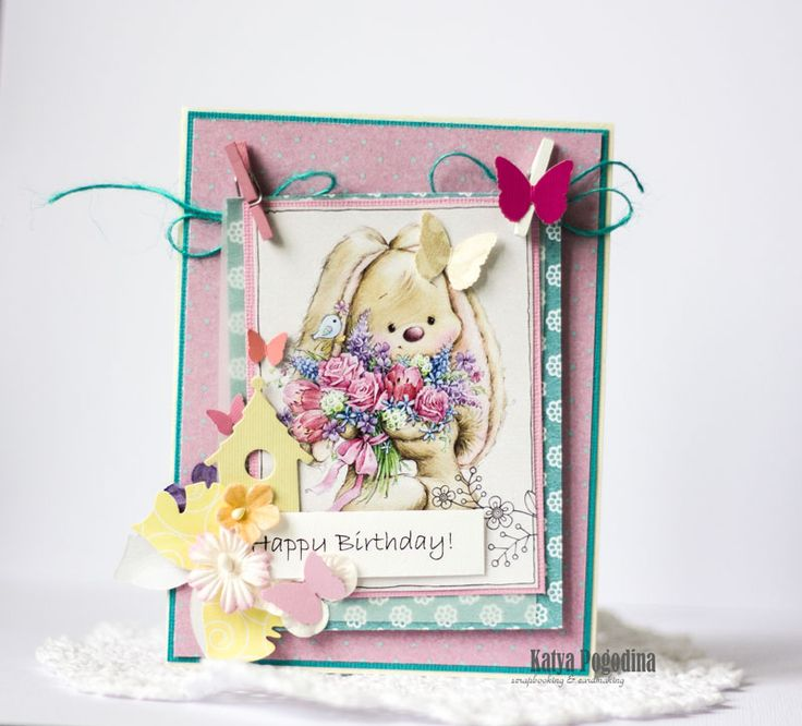 Про, открытка для маленькой девочки с днем рождения скрапбукинг
