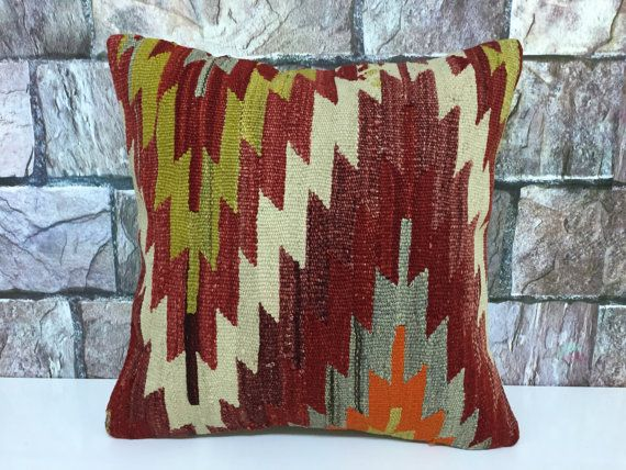 kilim pillow anatolian traditional otantic hand woven by laviaart