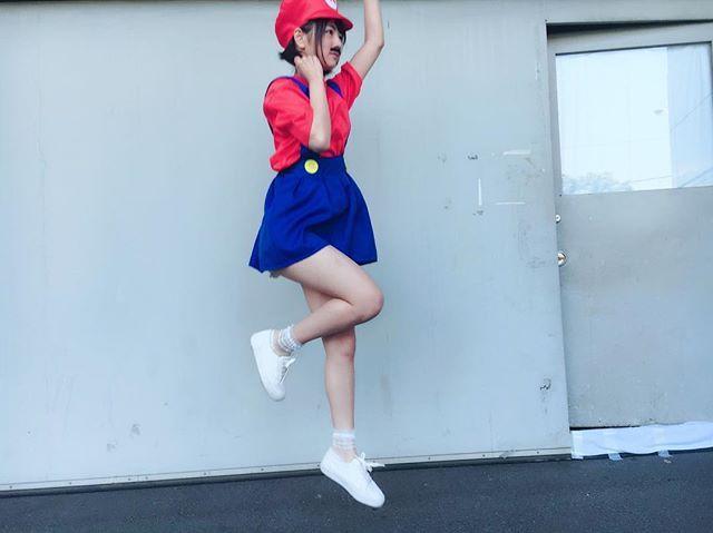マリオ姿の北野日奈子