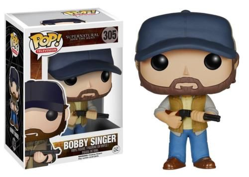 The supernatural hunter and ally to the Winchester brothers gets the Pop! Vinyl treatment! This Supernatural Bobby Singer Pop! Vinyl Figure features the character wearing his vest and hat, holding his trusty shotgun. Standing about 3 3/4 inches tall, this figure is packaged in a window display box. Ages 17 and up. #funko #popvinyl #actionfigure #collectible #Supernatural #BobbySinger