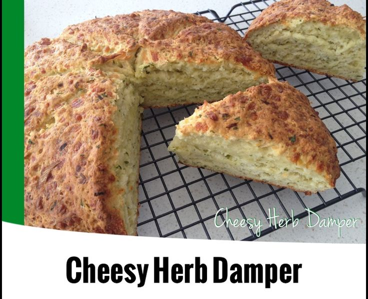 {Thermomix} Cheesy Herb Damper from The 4 Blades Magazine