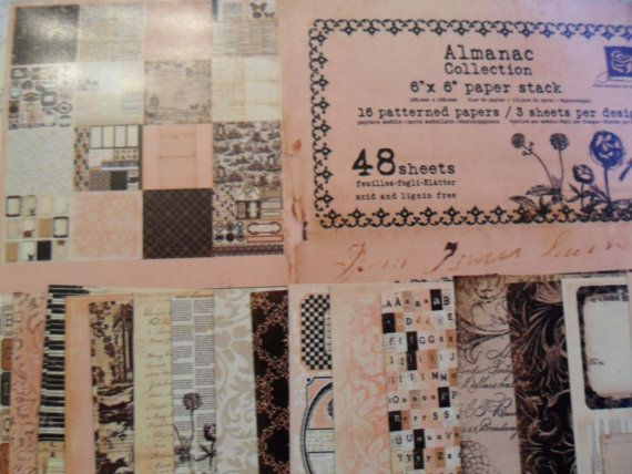 Brand New Prima Almanac Collection 6x6 paper by TinTiaraTrims