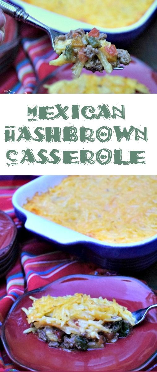 Mexican Hashbrown Casserole Recipe - A hearty easy dish that is cheesy and and a family fave #getyourbettyon #sp