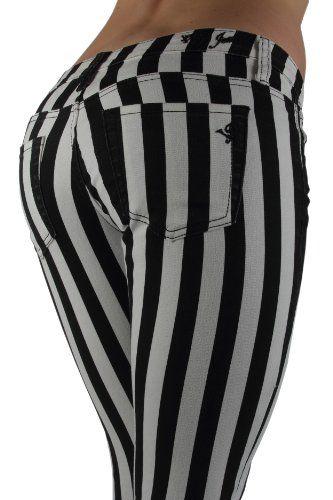 Black and white stripe pants Size 7/8