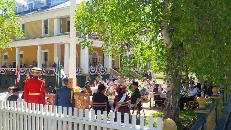 The Commissioner's Tea at the historic Commissioner's residence in Dawson City, Yukon.