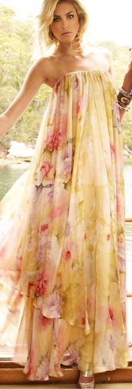 ~` light and airy and comfy `~: Maxi Dresses, Summer Dresses, Spring Dresses, Floral Prints, Flower Dresses, Flower Prints, Shower Dresses, Bohemian Style, Floral Dresses