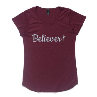 Ladies Christian T-Shirt - Believer
