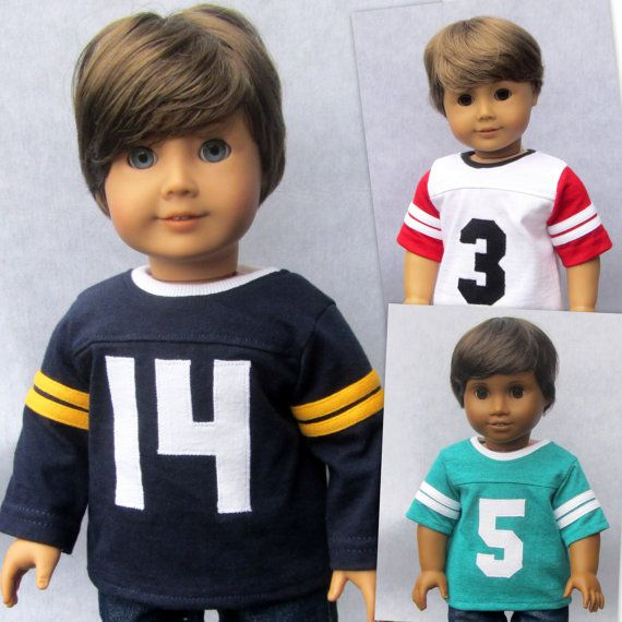 18 Inch Boy Doll Clothes Custom Numbered Sports by Minipparel