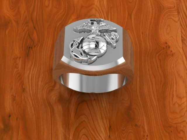 Large Marine Corps Ring  Made in the USA