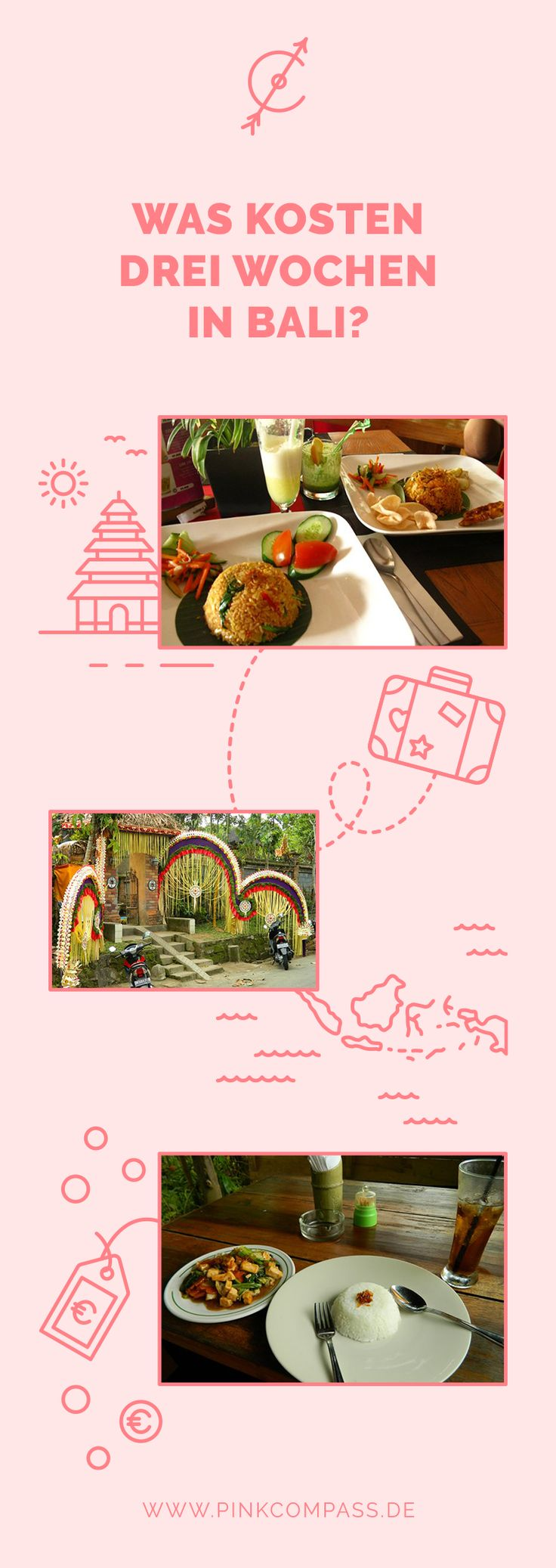 Immer wieder hänge ich an der Frage fest, wie viel Budget ein Urlaub auf Bali benötigt.  Diese Frage ist fast nicht zu beantworten, denn gerade auf Bali kannst Du für 20€ am Tag gut leben, aber auch genauso leicht 200€ ausgeben. Du kannst beim Urlaub auf Bali Hotels, Hostels oder Airbnb nutzen, teuer und günstig essen.