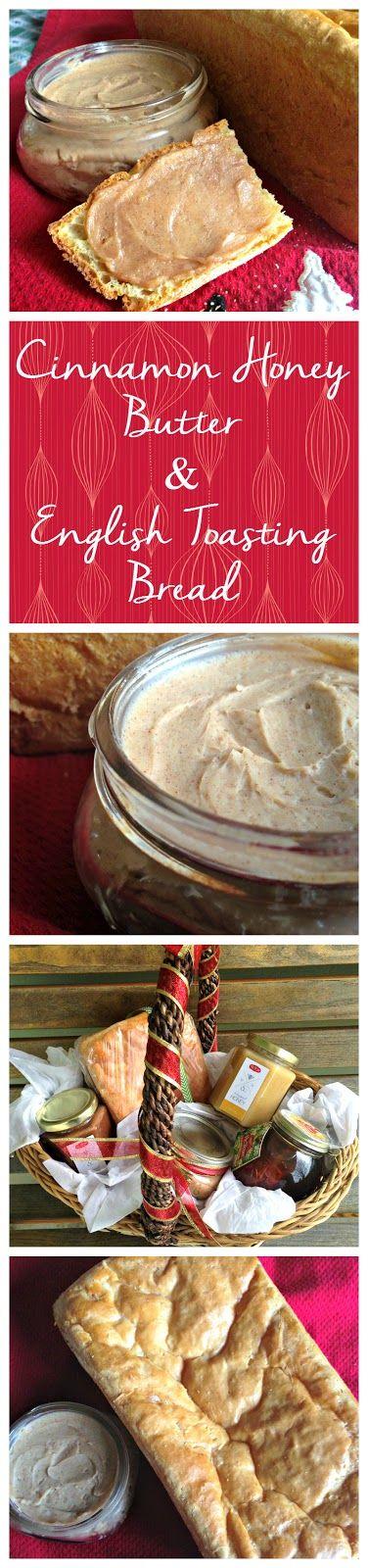 Cinnamon Honey Butter with English Toasting Bread - Plus Christmas Gift Basket Idea! #HoneyForHolidays #DonVictor #Shop