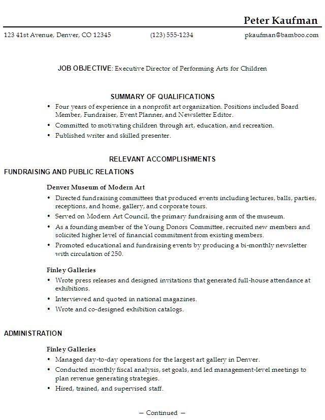 47 Best RESUME Images On Pinterest Sample Resume Resume