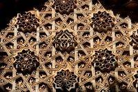 Wood carved detail, Palais de la Bahia, Marrakesh, Morocco, Africa
