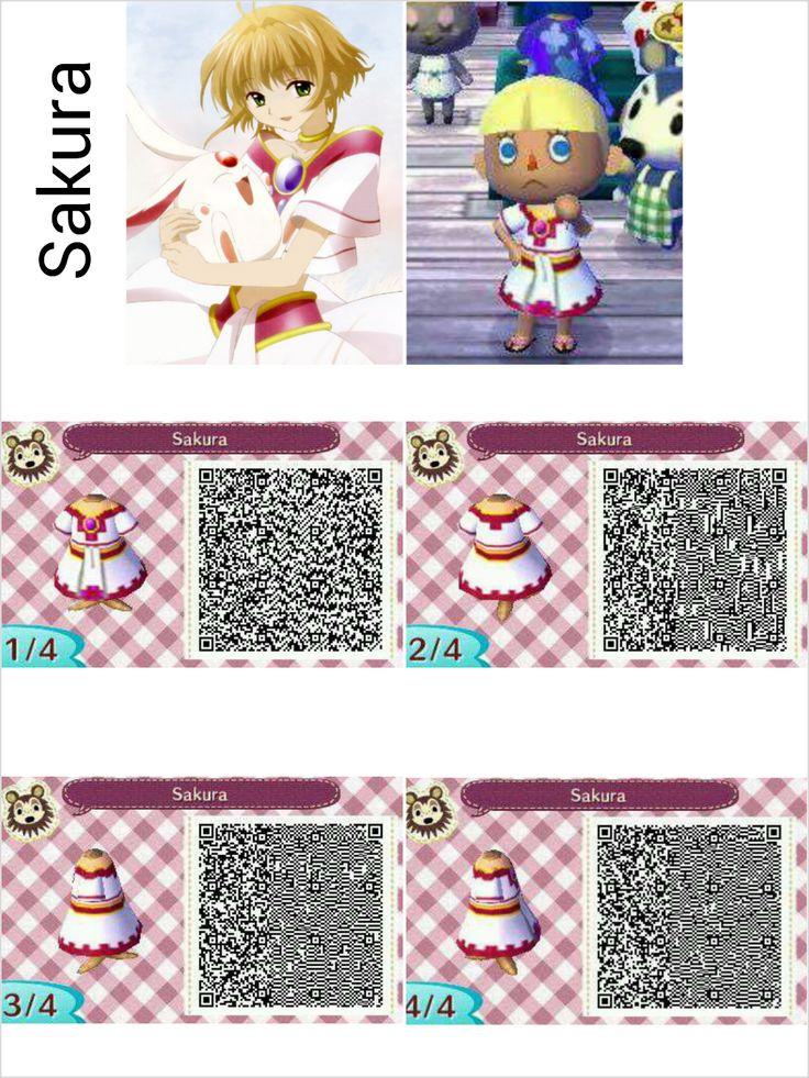 Qr codes animal crossing acnl clothes visit peanutfashions sakura