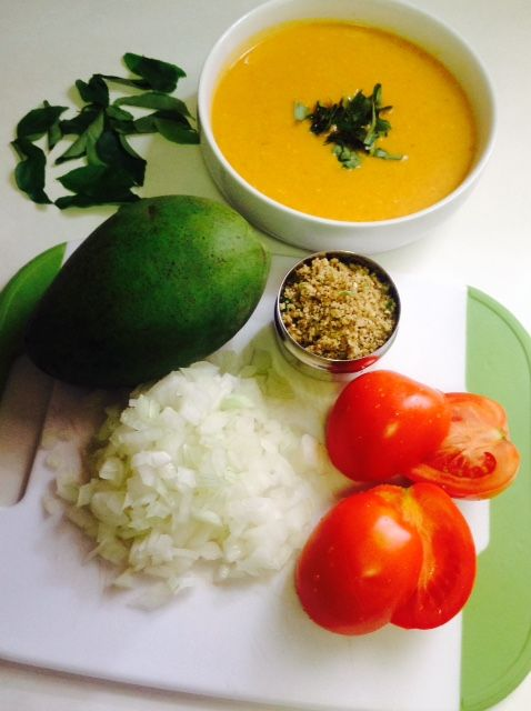 Mango Moong Dal Rasam . Today I prepared Moong Dal Rasam for Lunch . I prepare different types of Rasam but never tried Mango Moong Dal Rasam . It turned out delicious. Do try and Share your feedb…