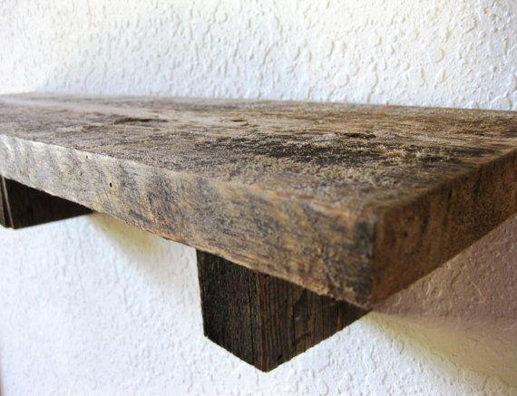Reclaimed Barn Wood Shelf - Item S1 - 102 Best Deco Chalet Chic Images On Pinterest
