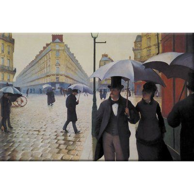Buyenlarge Paris Street: Rainy Day Print of Painting on Wrapped Canvas
