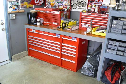 Mule motorcycles garage workshop tool storage the for Motorcycle garage plans