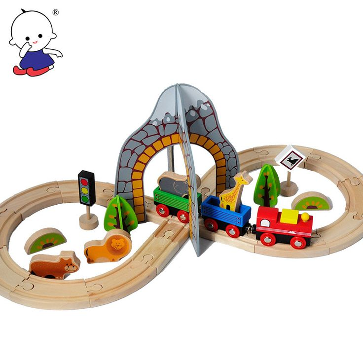 New Hot Wooden Thomas Train Track Set Model Toy Puzzle Children's Toys For Children's Best Christmas Gift Kids Toys On Stock